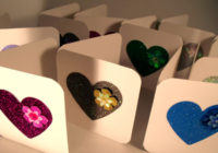 Hearts & Sequins Mini Greeting Cards