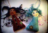 Two Felt Angels