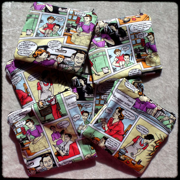 Make-Up Bags - 1950s Comic Strip