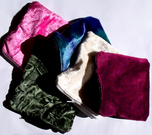 Large Square Crushed Velvet Purses